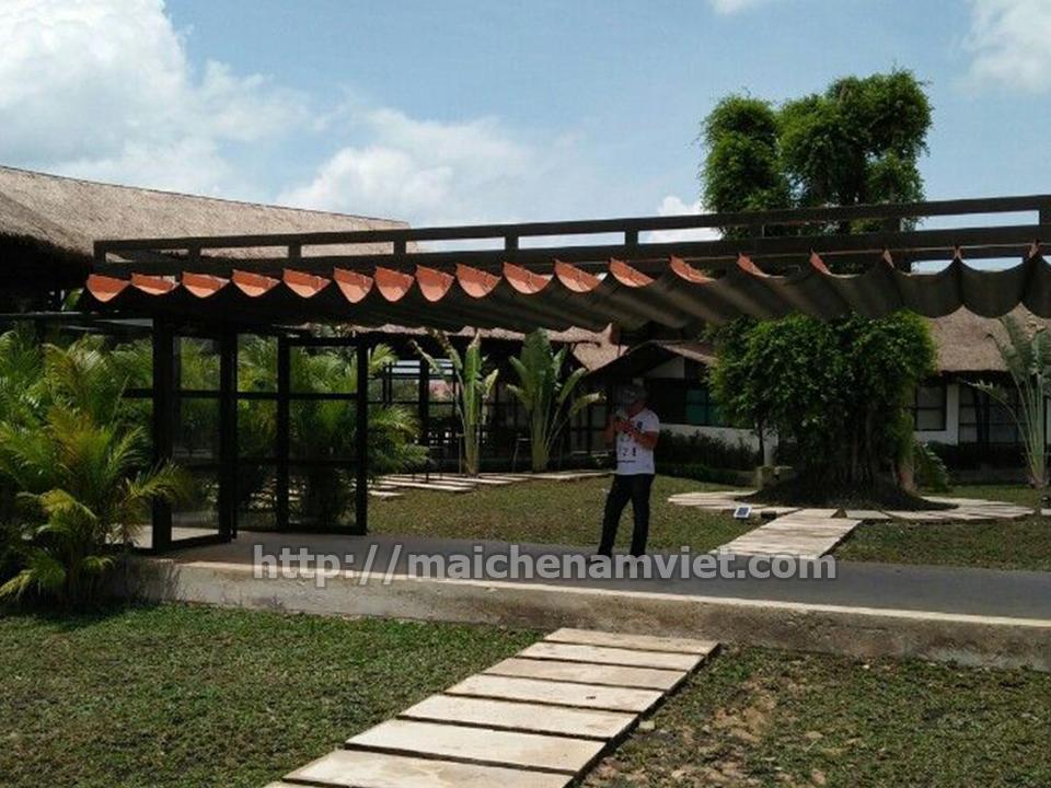 Hoàn thiện mái che di động cho khu nghỉ dưỡng