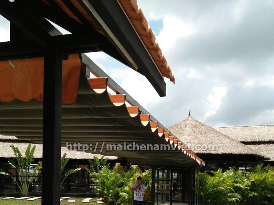 lắp đặt mái che di động cho khu nghỉ dưỡng